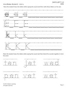 Word Tracing