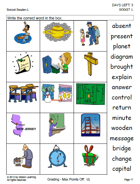 Vocabulary Matchup