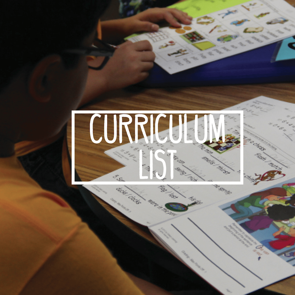 Curriculum List