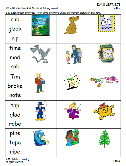 Spelling Long Vowels